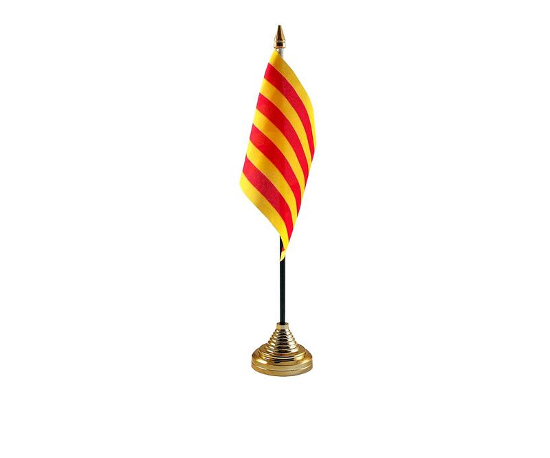 Catalonia Hand Table or Waving Flag Country