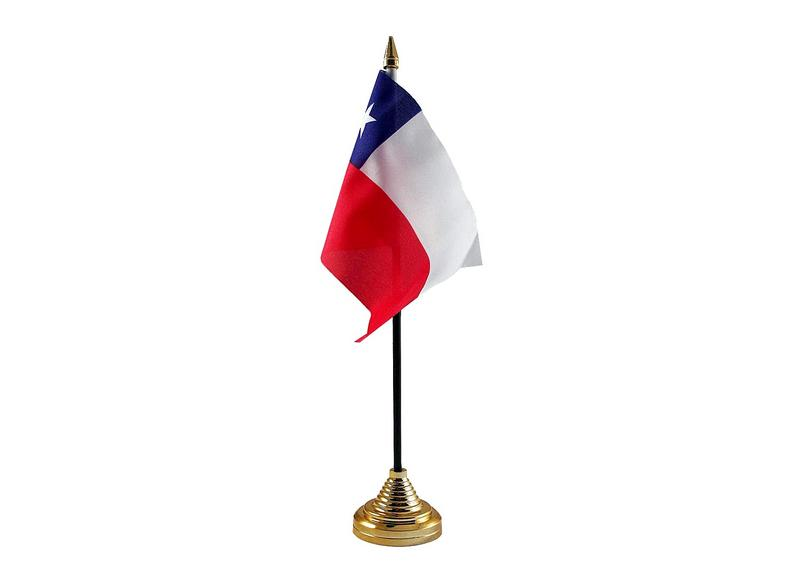 Chile Hand Table or Waving Flag Country Chilian
