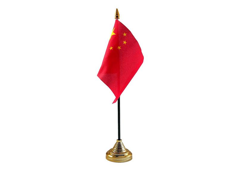 China Hand Table or Waving Flag Country Chinese