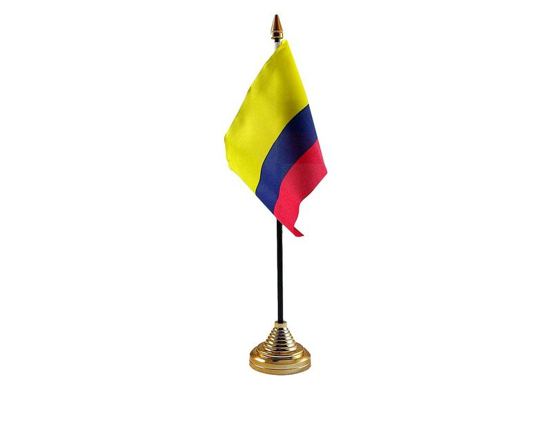 Colombia Hand Table or Waving Flag Country Columbian