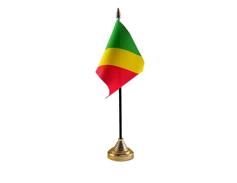Congo (R) Brazzaville Hand Table or Waving Flag Country