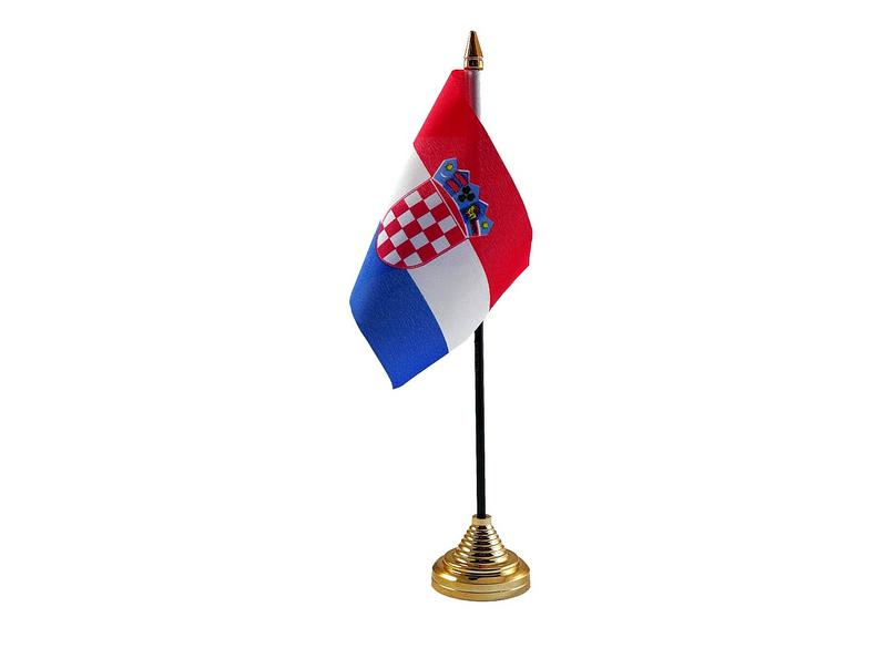 Croatia Hand Table or Waving Flag Country