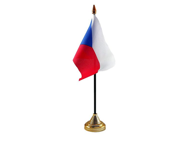 Czech Republic Hand Table or Waving Flag Country