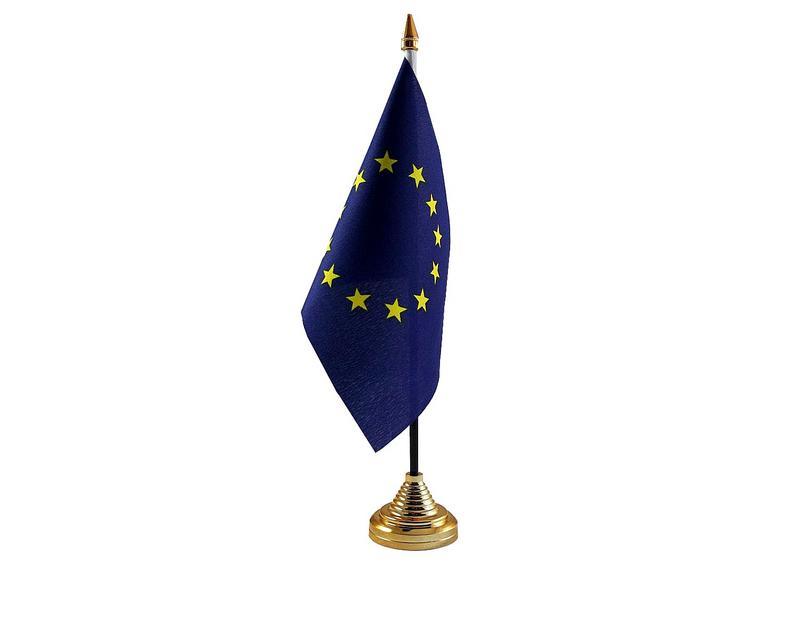 European Union Hand Table or Waving Flag EU