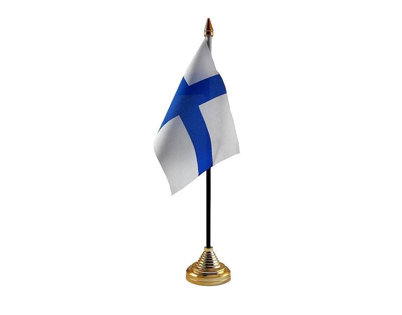 Finland Hand Table or Waving Flag Country Finish