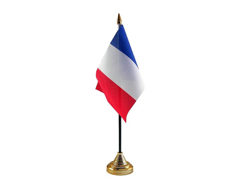 France Hand Table or Waving Flag Country French