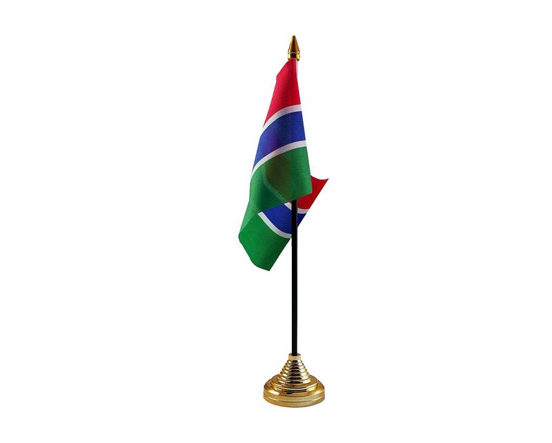 Gambia Hand Table or Waving Flag Country
