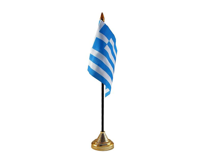 Greece Hand Table or Waving Flag Country