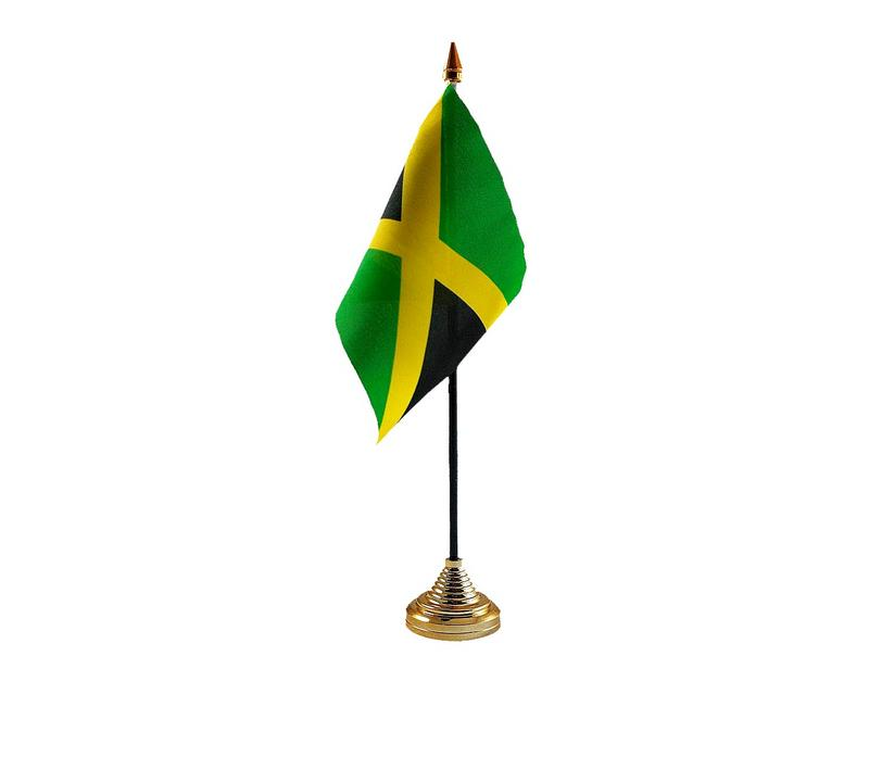 Jamaica Hand Table or Waving Flag Country Jamaican