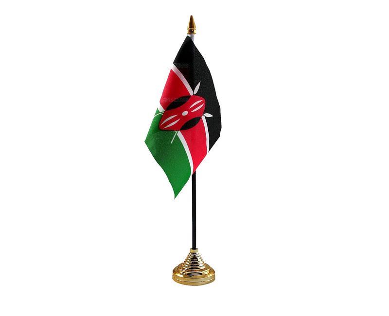 Kenya Hand Table or Waving Flag Country Kenyan