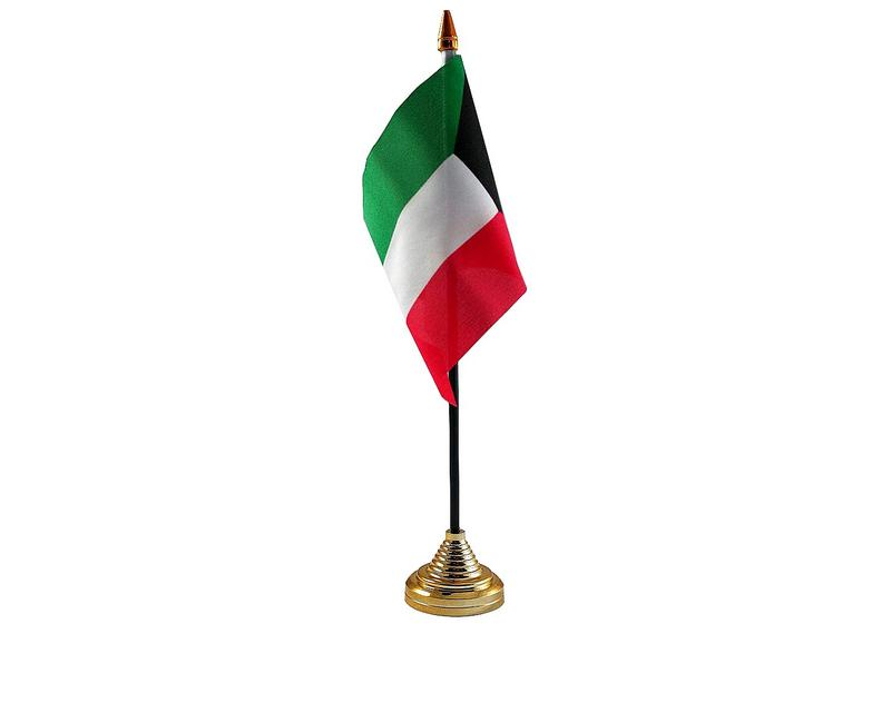 Kuwait Hand Table or Waving Flag Country