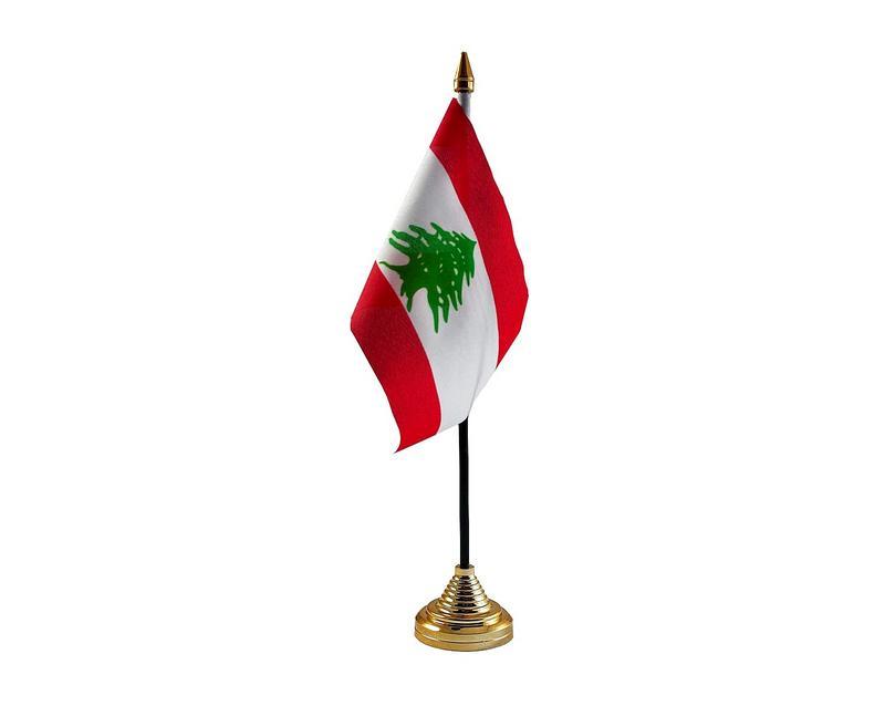 Lebanon Hand Table or Waving Flag Country