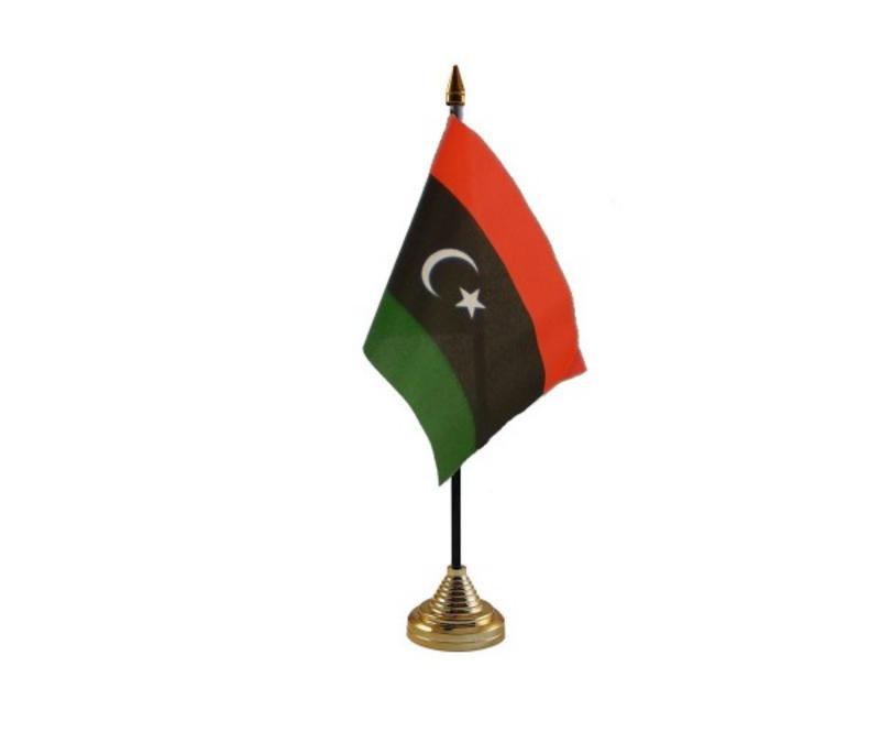 Libya New (Kingdom) Hand Table or Waving Flag