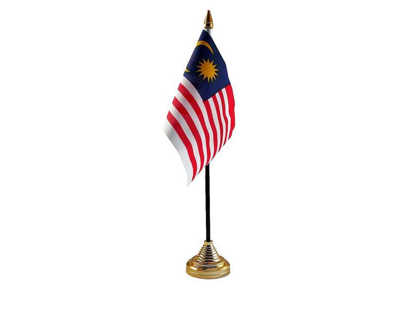 Malaysia Hand Table or Waving Flag Country Malaysian