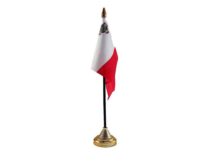 Malta Hand Table or Waving Flag Country Maltese