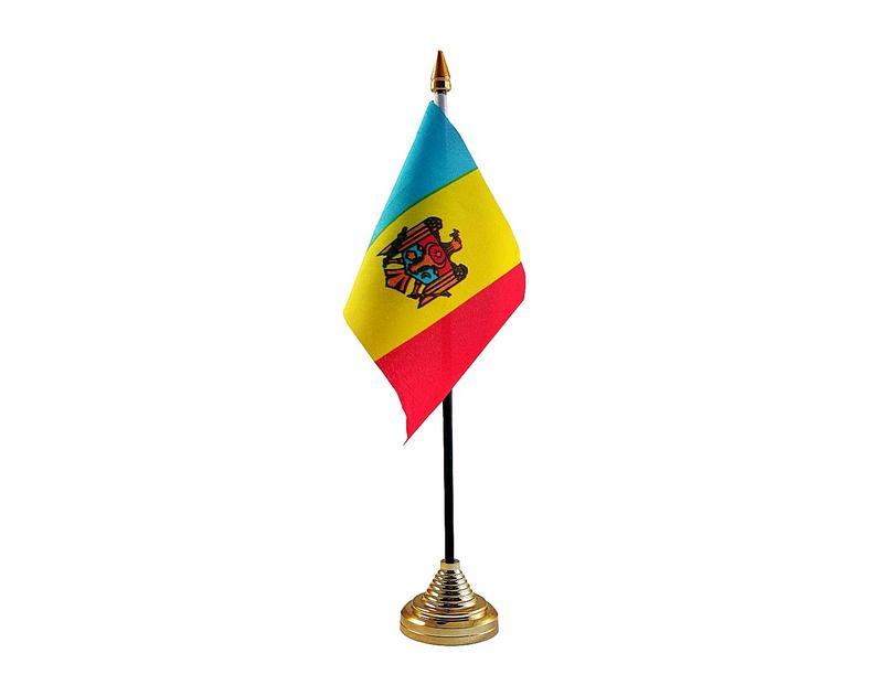 Moldova Hand Table or Waving Flag Country