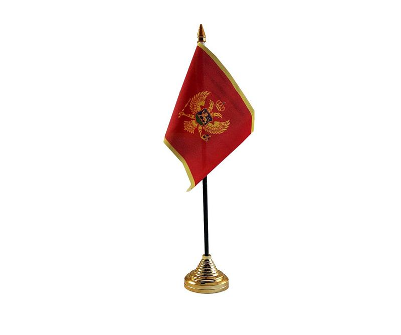 Montenegro Hand Table or Waving Flag Country