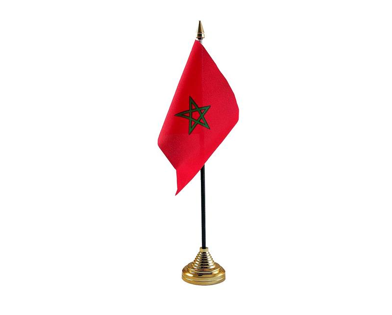 Morocco Hand Table or Waving Flag Country
