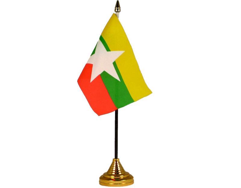Myanmar New (Burma) Hand Table or Waving Flag Country