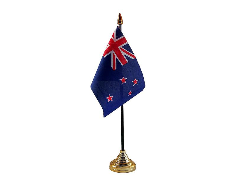 New Zealand Hand Table or Waving Flag Country All Blacks