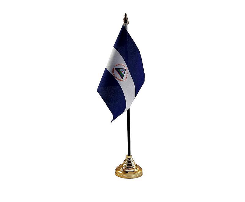 Nicaragua Hand Table or Waving Flag Country