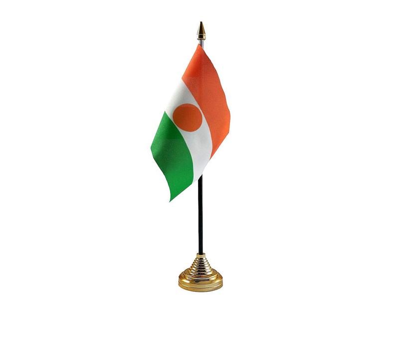 Niger Hand Table or Waving Flag Country