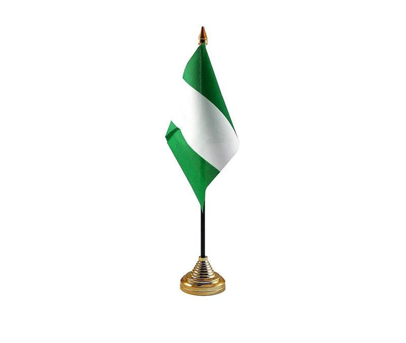Nigeria Hand Table or Waving Flag Country Nigerian