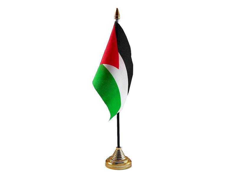 Palestine Hand Table or Waving Flag Country Palestinian