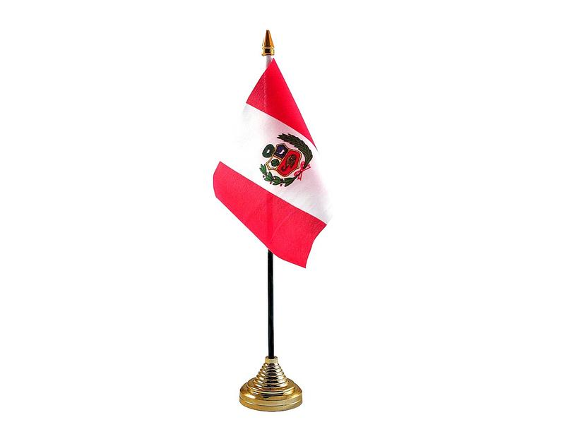 Peru Crest Hand Table or Waving Flag Country