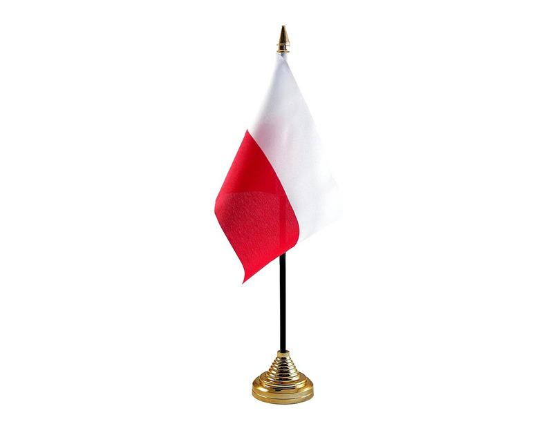 Poland Hand Table or Waving Flag Country Polish