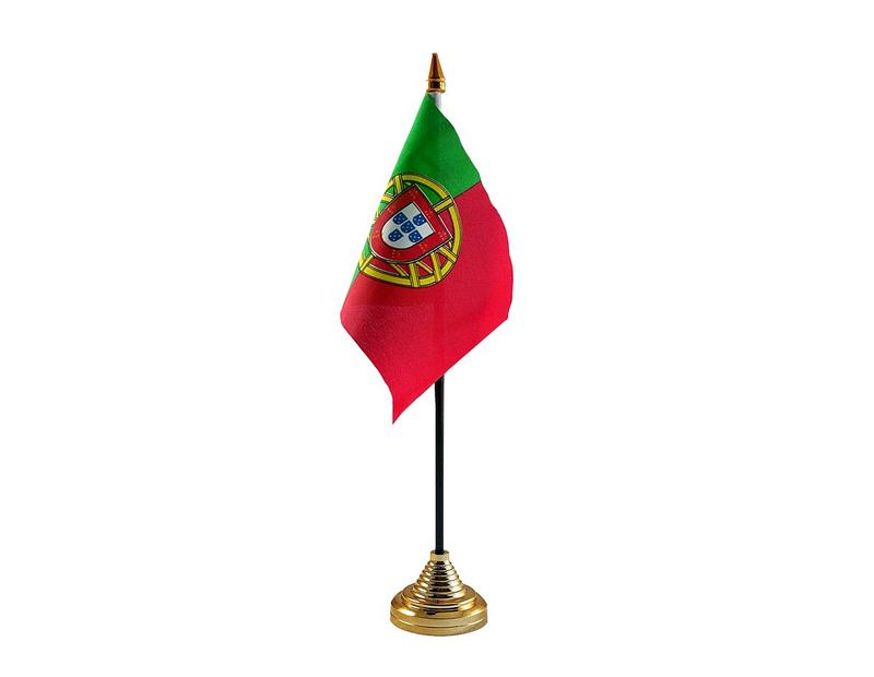 Portugal Hand Table or Waving Flag Country Portugese