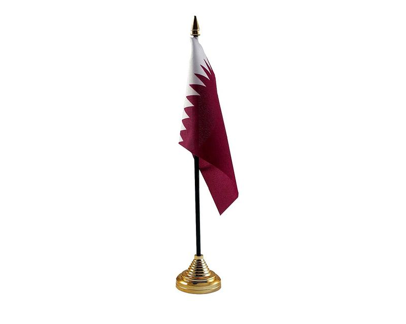 Qatar Hand Table or Waving Flag Country