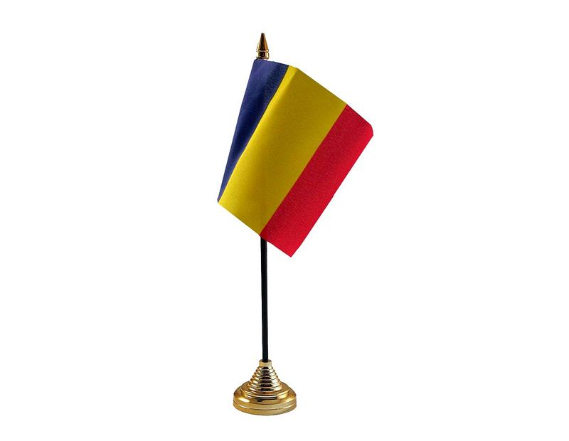 Romania Hand Table or Waving Flag Country Romanian