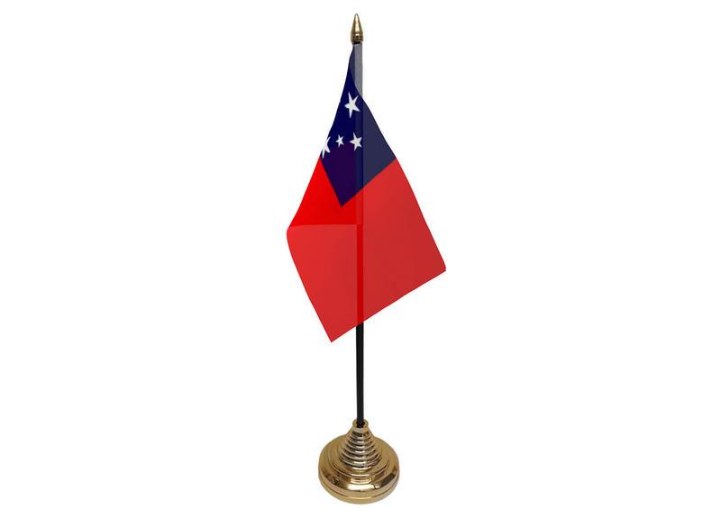 Western Samoa Hand Table or Waving Flag Samoan Country