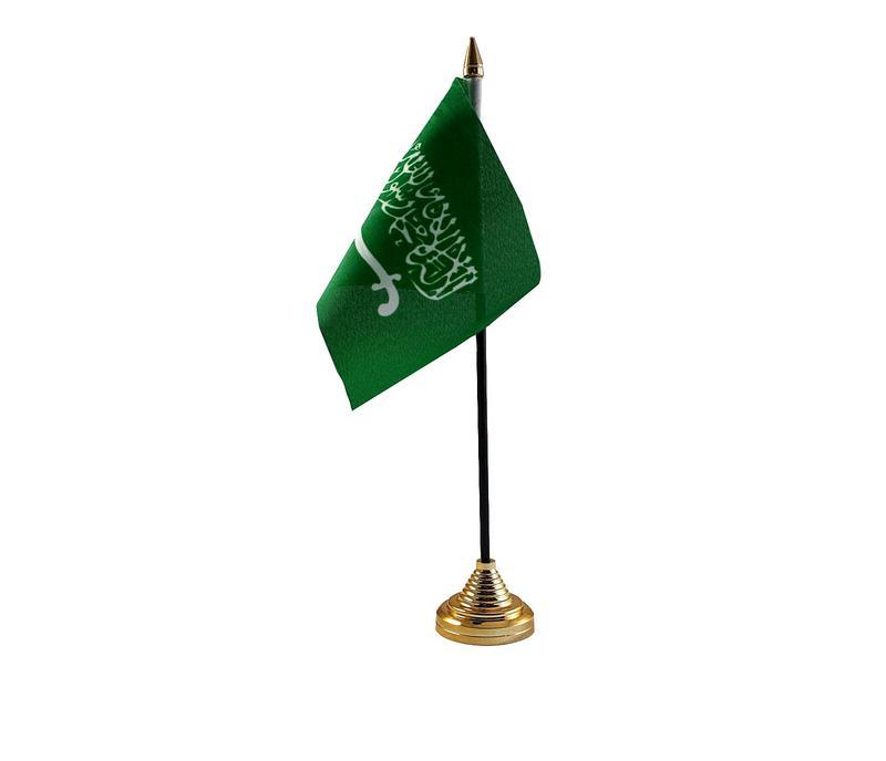 Saudi Arabia Hand Table or Waving Flag Country Arabian