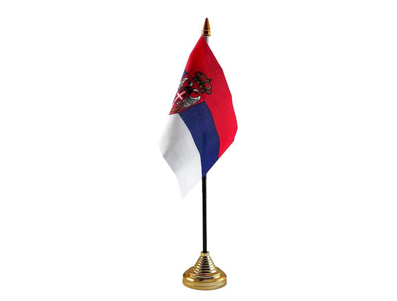 Serbia Crest Hand Table or Waving Flag Country