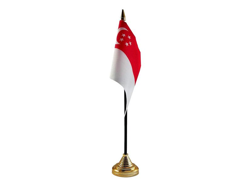 Singapore Hand Table or Waving Flag Country