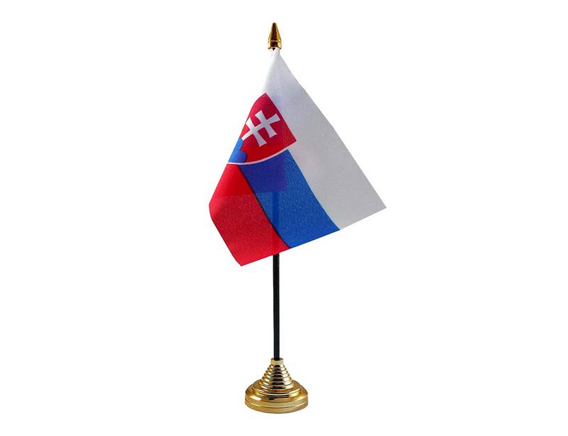 Slovakia Hand Table or Waving Flag Country Slovakian