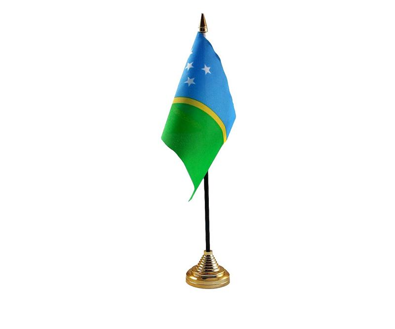 Solomon Islands Hand Table or Waving Flag Country