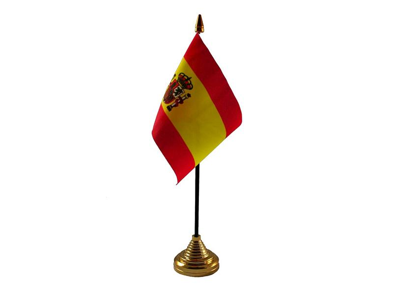 Spain Crest Hand Table or Waving Flag Country Spanish