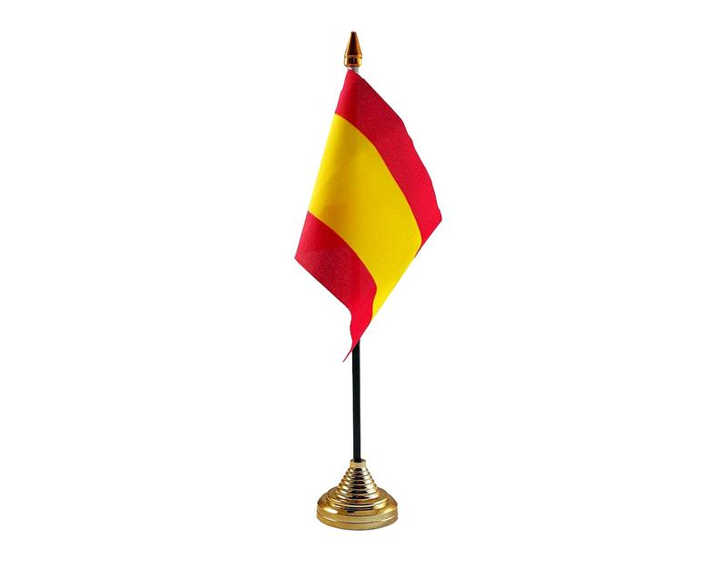 Spain No Crest Hand Table or Waving Flag Country Spanish