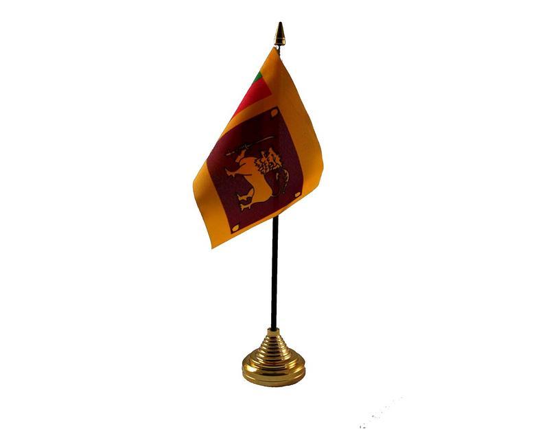 Sri Lanka Hand Table or Waving Flag Country Sri Lankan