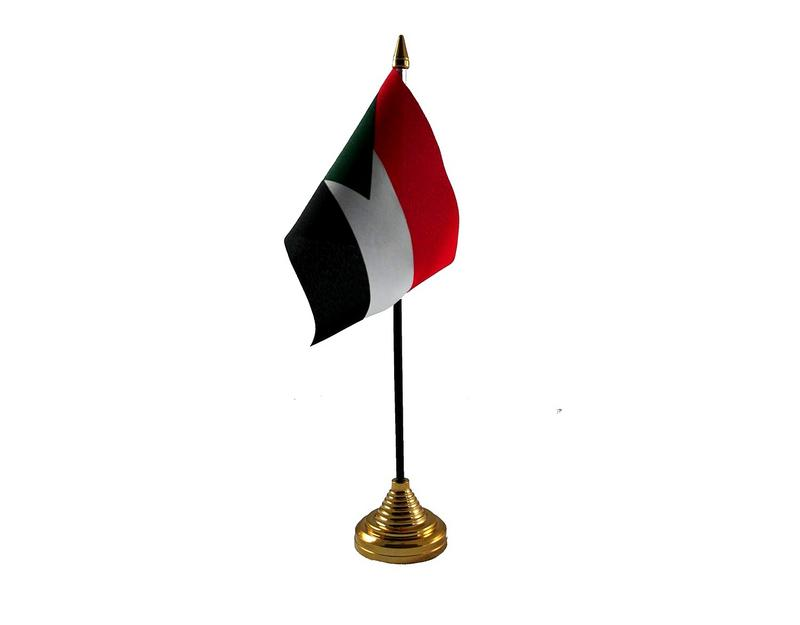 Sudan Hand Table or Waving Flag Country