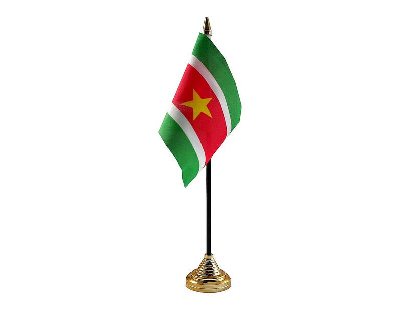 Suriname Hand Table or Waving Flag Country