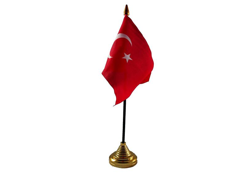 Turkey Hand Table or Waving Flag Country Turkish