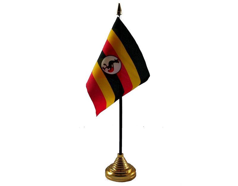 Uganda Hand Table or Waving Flag Country Ugandan