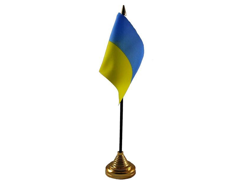 Ukraine Hand Table or Waving Flag Country Ukranian