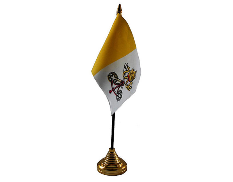 Vatican City Hand Table or Waving Flag