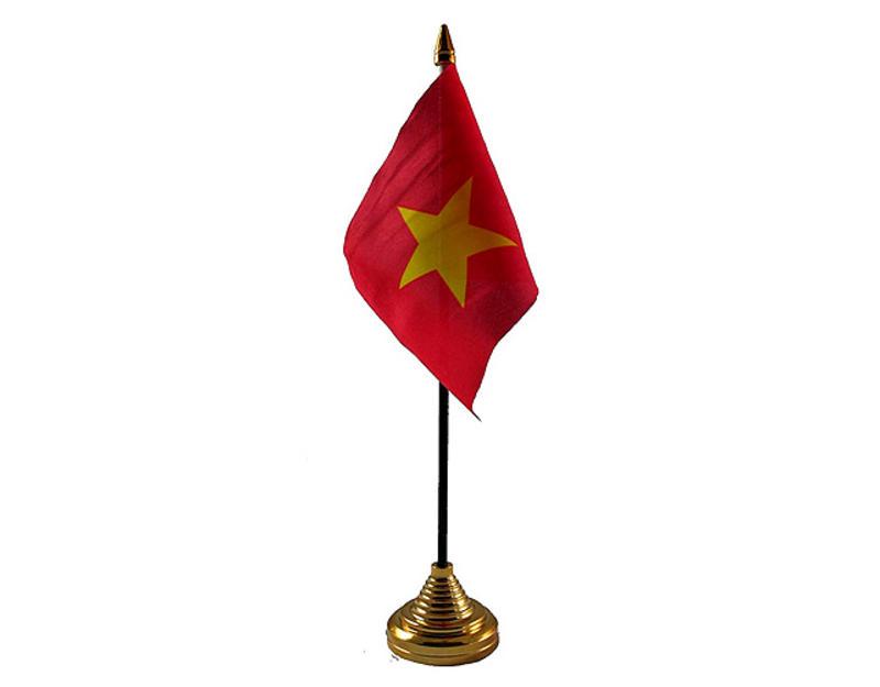 Vietnam Hand Table or Waving Flag