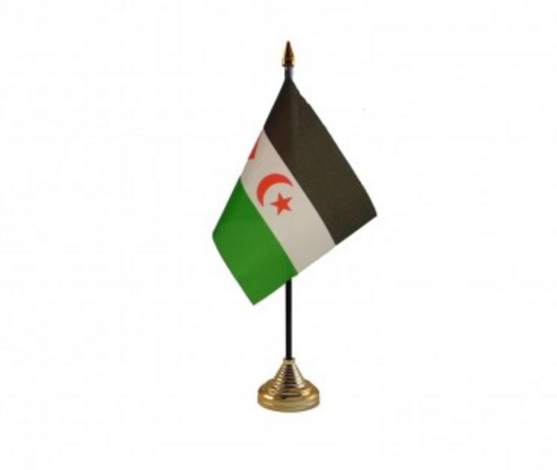 Western Sahara Hand Table or Waving Flag